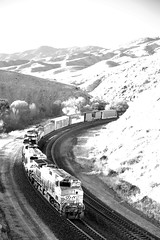 MSTOBAR1 23A in Infrared (DJ Witty) Tags: santafe burlingtonnorthernsantafe tehachapi blackandwhite infrared bw train freight rr railroad california
