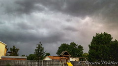 August 17, 2016 - A little lightning bolt in Thornton. (ThorntonWeather.com)