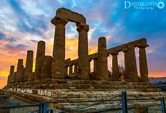 Temple of Juno (Zephir89) Tags: valle dei templi temple greek greco tempio era hera lakinia giunone juno agrigento sicilia sicily italia italy akragas sunset tramonto