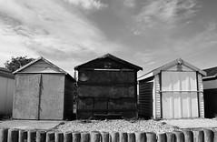 Weathered (mme1998) Tags: beach calshot hampshire aonb coast coastline solent southampton summer nikon d3300 dslr water sea ocean sand huts beachhuts wood texture