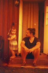 Seasons in the Sun (Magnus Bergstrm) Tags: lomography redscale xr lomographyredscalexr film 135 35mm canonae1 canon ae1 analog color colour portrait sweden vrmland sverige wermland solberg karlstad marfal00 petfal00