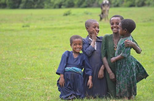Group of Rural Ethiopian Children