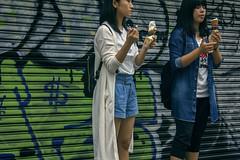cool down (edwardpalmquist) Tags: takeshitastreet harajuku shibuya tokyo japan travel city street urban fashion graffiti streetart icecream food outdoors people girl