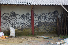 Sa Pa, Vietnam (Quench Your Eyes) Tags: art asia biketour dao graffiti hmong honglinsonmountains laocai laocaiprovince muonghoavalley northwestvietnam sapa sap southeastasia streetart tay travel ttsapa vietnam vietnamese wallart hmong chsapa