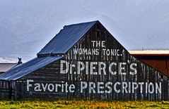 Dr. Pierce's Favorite Prescription (oybay) Tags: drpiercesfavoriteprescription drpierce favorite prescription roadsideattraction sign signage barn ad advertising aged old historic iconic billboard painting oldtimey classic medical medicine woman women female crazy utah logan loganutah us89 alongtheroad bizarre unusual doesnotwork architecture design propaganda misunderstood flickrfriday