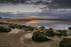 Rock Pools (MichaelGrolys) Tags: northumberland england sunset uk seascape peace evening budlebay tranquility noth