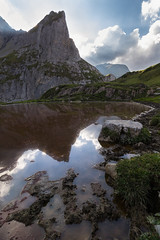 The Bloody Lake (pascal_kipf) Tags: tümpel puddle iffigtal switzerland schweiz mountain berge alp reflection spiegelung cloud wolke schlamm mud muddy canon 7d mk ii 10 18 stm weitwinkel wideangle uww
