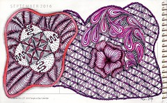 Zentangle A Day - 235 (ronniesz) Tags: zentangleinspiredart doodles derwentinktensepencils prismacolorpencils penandink micron art adultcoloring coloring finelinecoloredpens handmade linedrawing micronpens organic strings tangles visualarts