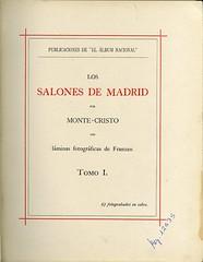 """""""Los salones de Madrid"""" (ca. 1898) (Museo del Romanticismo) Tags: siglo xix los salones de madrid biblioteca bibliofilia romanticismo"""