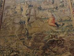 """St Georges et le dragon"", 1551, Johannes Karcher, Muse piscopal, via San Romano, Ferrare, Emilie-Romagne, Italie. (byb64 (en voyage jusqu'au 09-10)) Tags: ferrare ferrara emilieromagne emiliaromagna emilia emilie fe italie italy italia italien europe europa eu ue unesco unescoworldheritagesite muse museum museo museodelduomo tapisserie arazzo tapestry sangiorgio stgeorges bildwirkerei tapiz xvie 16th cinquecento 1500 renaissance renacimiento rinascimento"