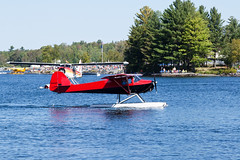 Private Taylorcraft BC12-D1 NC44317 (jbp274) Tags: greenville greenvilleseaplaneflyin 52b flyin airplanes seaplane floatplane lake water mooseheadlake taylorcraft bc12