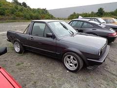 VW Polo Pick up (911gt2rs) Tags: treffen meeting show event tuning tief stance 2 86c derby pickup umbau youngtimer truck grau grey custom coachbuilt