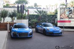 New R8 & 911 GT3 RS (Chris Photography.) Tags: audi r8 v10 porsche gt3 gt3rs car canon cars chrisphotographymc croisette supercar spotting supercars