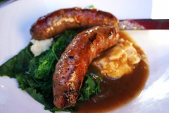 Bangers & Mash at Harbord Room (deeeelish) Tags: bangers mash potatoes kale sausage