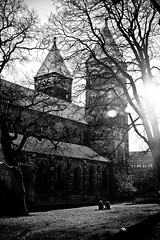 Lund, Sweden (roythaniago) Tags: lund sweden blackandwhite streetphotography church cathedral