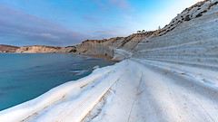 Famous limestone cliffs at agrigento (AndiZ275) Tags: famous white marl cliffs agrigento italy europe sicily turkishsteps steps turkish south amazing unique water landscape breathtaking rock rockformation scaladeiturchi
