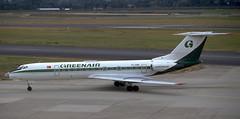 Tu-134 | TC-GRE | DUS | EDDL | 19910907 (Wally.H) Tags: tupolev tupolev134 tu134 tcgre dus eddl greenair dusseldorf airport