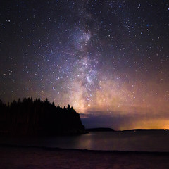 Cosmic Cloud Over Carrying Cove (BrianWalsh12) Tags: widefieldstarscape landscape milkyway stargazing nature starscape carryingcove noperson naturephotography longexposure beach ocean nb landscapephotography outdoors cosmic bay water sea newbrunswick