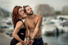 chained (Studio Hors-champ) Tags: couple love girl beauty model summer light beach boats port blue sky water sea city travel ocean beautiful chained