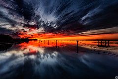 Somewhere Between Heaven And Hell (karolmaza) Tags: landscape canon sea seascape waterscape water reflection colorful color red long exposure sunrise