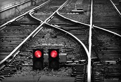 La ltima estacin (Franco DAlbao) Tags: red station train tren lumix rojo iron transport caminos signals rails ways estacin transporte seales hierro rales vas leicalens dalbao francodalbao