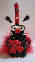 ladybug pen holder (Starky Art) Tags: cutegifts polymerclayladybug cuteladybug ladybugpen handcraftedpolymerclay ladybugpenholder cutedeskaccessories ladybugcollector