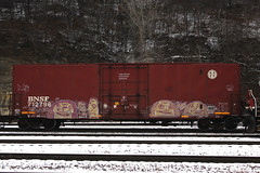 Open5 (TheBrainDead) Tags: street snow art minnesota st train paul photography graffiti flat painted minneapolis twin rail wd bnsf braindead cites pzl open5