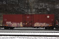 Open5 (The Braindead) Tags: open5 painted train graffiti minneapolis minnesota st paul twin cites street rail art photography snow braindead flat bnsf pzl wd bench tracks explore beyond the