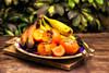 My type of winter (janusz l) Tags: wood fruits table guatemala painted knife plate spoon persimmons bananas greens persimmon bushes hdr cuttingboard janusz leszczynski 143530 mytypeofwinter bleubanana