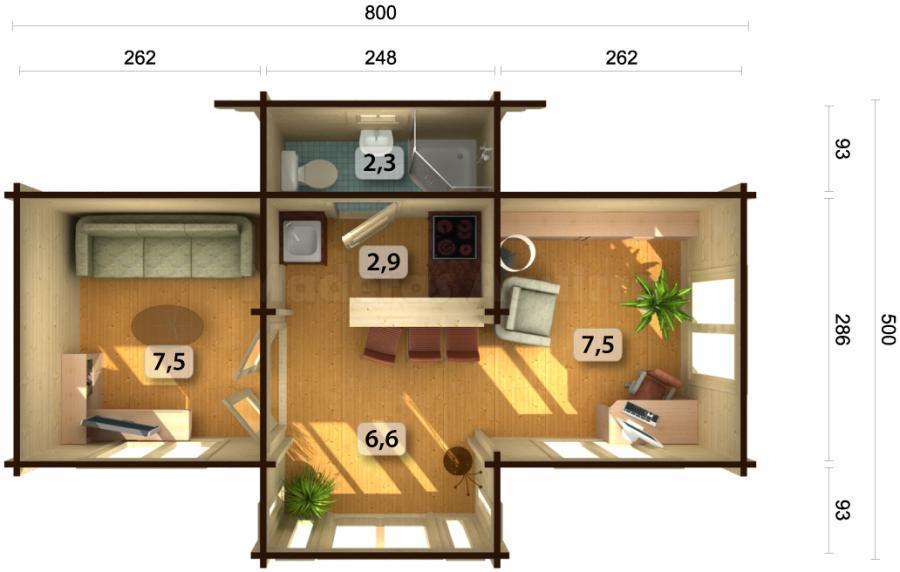 Casa de madera Itxasne