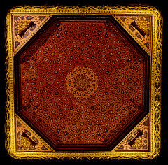 Mosaico techo Alcazar Segovia