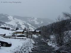Saalbach '13 Bach (Aprilia Anne) Tags: schnee houses winter snow river austria sterreich stream bach huser saalbach hinterglemm