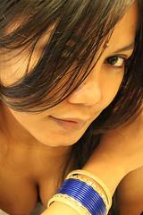 IMG_0787_3738221355 (BatakBeauty) Tags: woman india sexy girl beautiful beauty smile hair eyes singapore indian sensual bust desi littleindia cleavage bindi bangles sexiness cewek