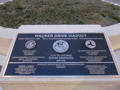 Wacker Drive Viaduct Dedication Plaque