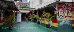 Jamaica-MoBay-Downtown-6362 (alison.toon) Tags: city copyright restaurant town mural downtown photographer jamaica vegetarian rasta montegobay onelove rastafarian ital donteatthem bekindtoanimals alisontoon
