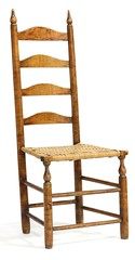 7. Antique Ladder Back Side Chair