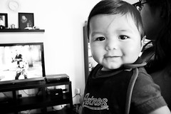 Big Feelings (Alexander-Martinez) Tags: boy portrait bw baby white black cute canon eos rebel tv sweet adorable t3 astros dslr 1100d