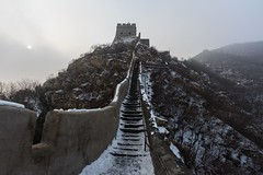 Happy New Chinese Year! The Great Wall of China in Winter Garb (UNESCO World Heritage Site) (Maria_Globetrotter) Tags: world china county travel winter sun heritage tourism sol architecture canon de vinter ancient december day cloudy chinese landmark icon unesco typical sonne kina efs cina mutianyu chine 2012 weltkulturerbe whs mondial patrimoine huairou mtiny welterbe kiina  chiny in lhumanit 650d 1585  werelderfgoed  vrldsarv werelderfgoedlijst verdensarven  mariaglobetrotter