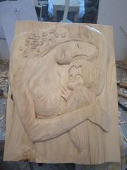 klimt4 (La pulce d'acqua) Tags: klimt legno bassorilievo cirmolo scolpire
