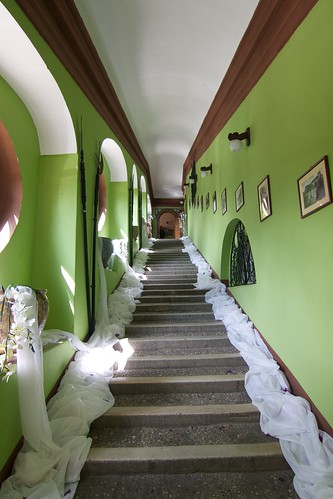Schody w zamku w Otmuchowie