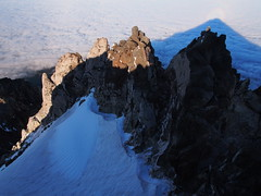 The Sisters (blue polaris) Tags: park new summer mountain snow ice rock sisters landscape island volcano climb scenery mt cone north olympus mount route zealand national nz summit np thor predawn omd taranaki egmont dormant ascend stratovolcano 2013 em5 taranakiegmont egmonttaranaki 2518m