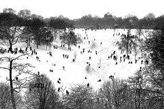 Greenwich Park in snow (mikekingphoto) Tags: snow royal observatory sled greenwichpark mikekingphoto