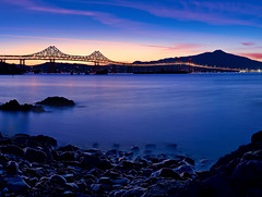 Richmond Bridge Blue Hour (Explore #30) (mikeSF_) Tags: bridge blue sunset mike night point bay twilight san long exposure mt pentax cloudy marin pablo richmond mount hour rafael tamalpais polarizer limited tam k5 hoya cokin blueyellow oria nd400 fa31 p173 varicolor mikesf httpmikeoriazenfoliocom