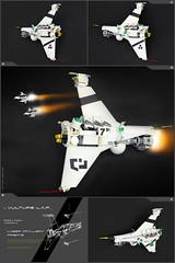 'VULTURE' LASER ARTILLERY FRIGATE (Pierre E Fieschi) Tags: lego pierre micro laser artillery cormorant spaceship vulture frigate sylvain helghast microspace fieschi microscale microspacetopia iomedes