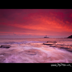 The Lady in Red (Dru Dodd) Tags: andrew dru dodd olympus e30 sigma 1020 st saint marys lighthouse whitley bay sea seascape old lady sunrise colour red orange north east newcastle tyne coast northumberland