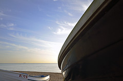 TWO BOATS (DESPITE STRAIGHT LINES) Tags: morning autumn sky cloud fall wet water clouds boats boat flickr waves cloudy tide