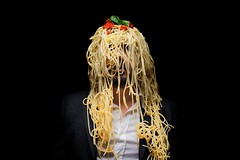 "3/365 ""Myself"" nr.3 - EXPLORED - February 15, 2013 #32 (Luca Rossini) Tags: portrait food man black self project myself tomato studio lights blog background sony pasta suit basil theme 365 spaghetti strobe rx1 pummarola 365daysofrx1onecameraonelens12projects"