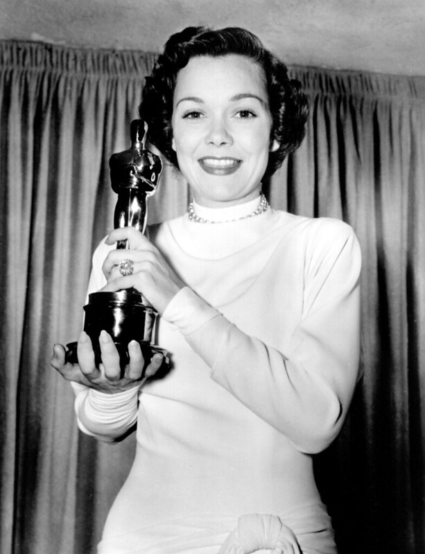 Jane Wyman, accepting Best Actress Award for Johnny Belinda (1948) Academy Awards, Oscars 1949 Supplied by WENN.com