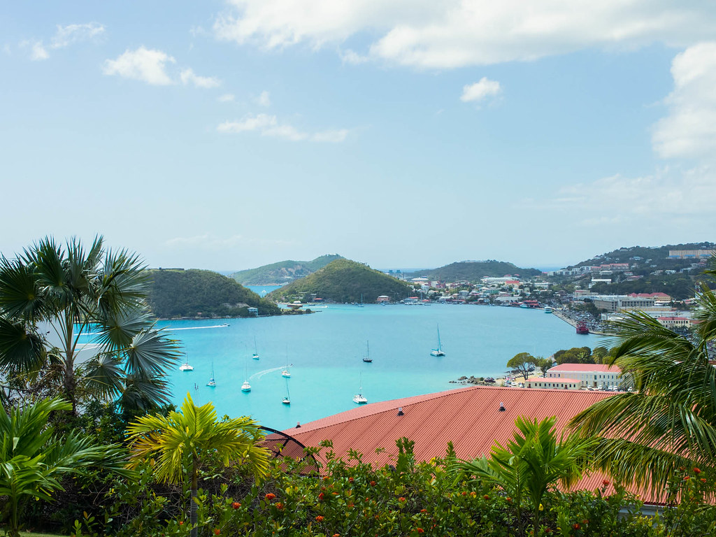 View from Bluebeard's Tower in St. Thomas