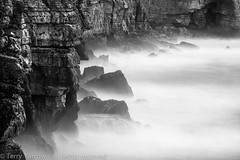 The Rugged Coast (Terry Yarrow) Tags: uk light sea england canon landscape coast movement waves wind dorset eos5d dorsetcoastpath staldhelmshead